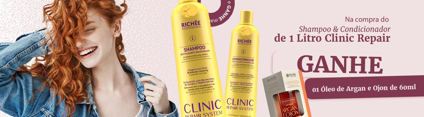Clinic Repair System Kit Shampoo e Condicionador Profissional
