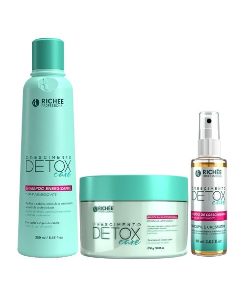 Richée Detox Care Kit Shampoo Máscara e Fluído